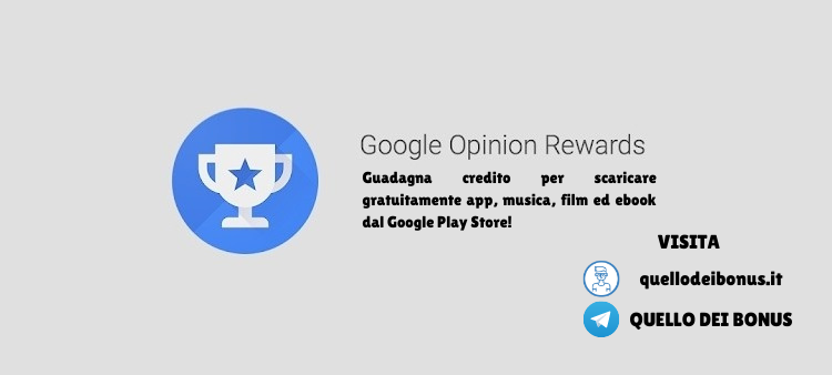 Google Rewards bonus