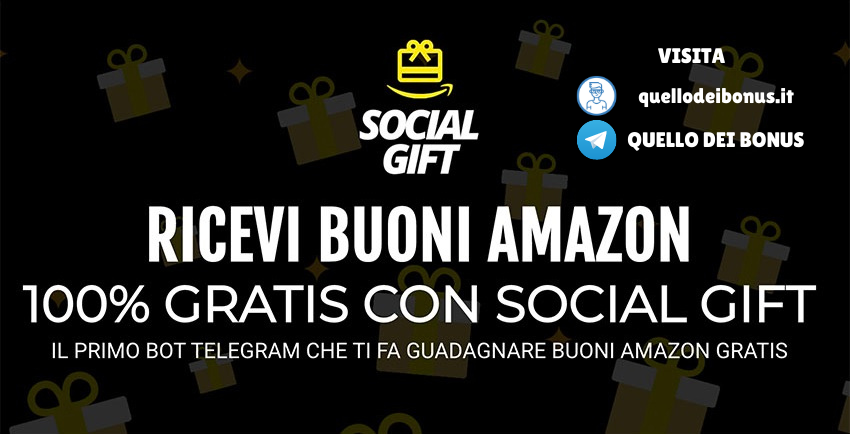 SocialGift buoni Amazon