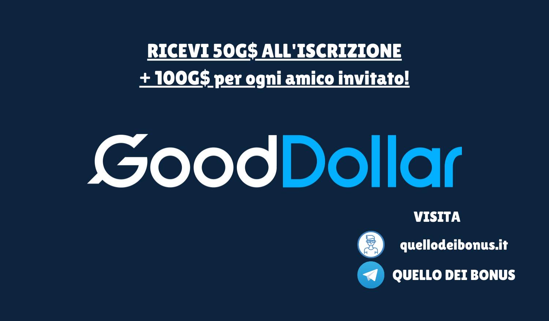 GoodDollar bonus