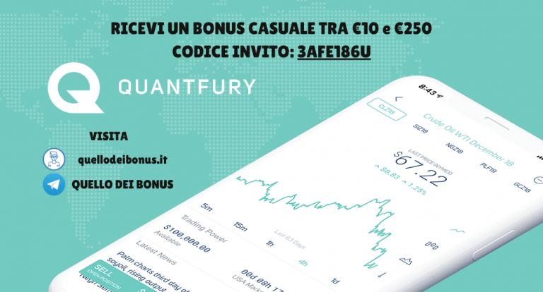 Quantfury bonus